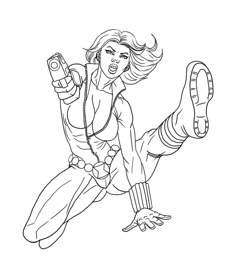 Get This Avengers Coloring Pages Black Widow Printable 63189