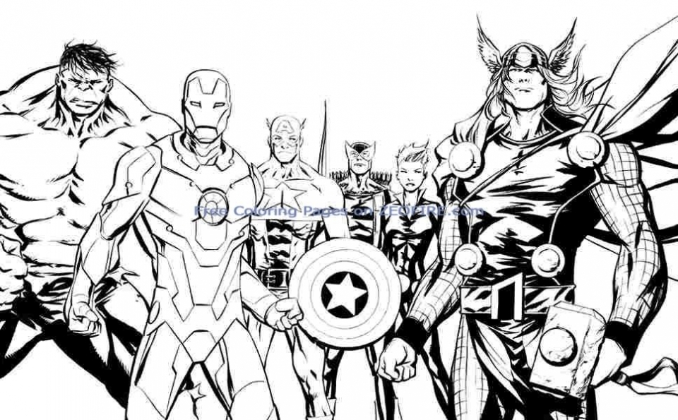 Get This Avengers Coloring Pages Boys Printable 41648 !