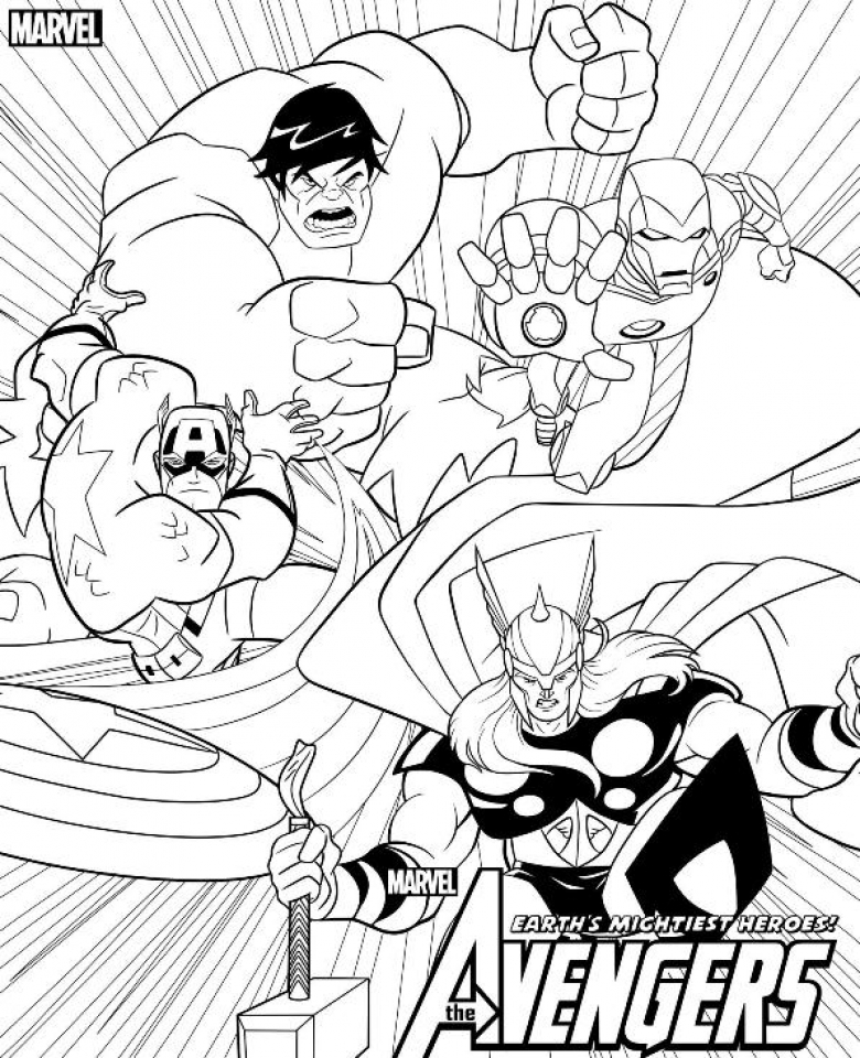Avengers Coloring Pages Free Printable 15467