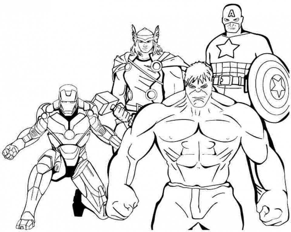 avengers coloring pages free printable 37186 - Avengers Hulk Coloring Pages