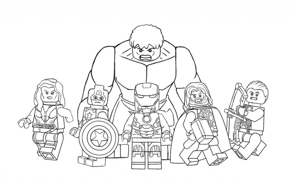 avengers coloring pages free printable 62761 - Avengers Coloring Page