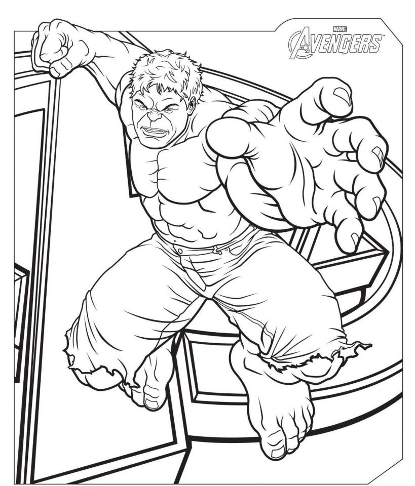 Avengers Coloring Pages Hulk 56831