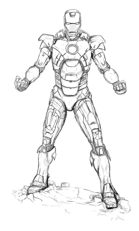 Get This Avengers Coloring Pages Iron Man Printable 79531