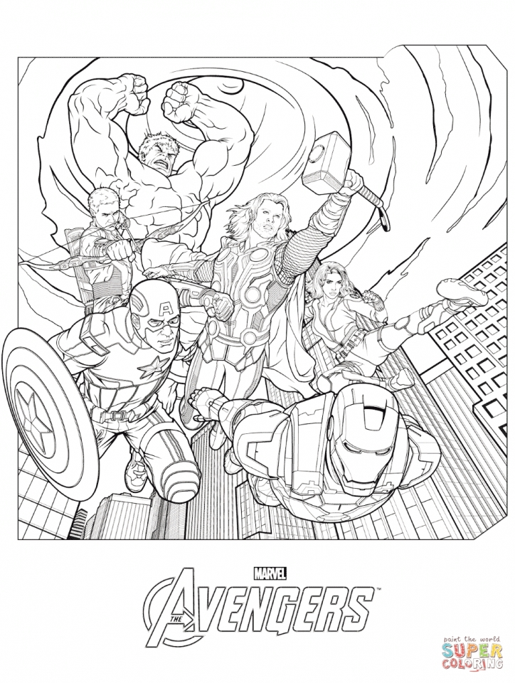 Superhero Coloring Pages Avengers : Get this avengers coloring pages marvel superheroes