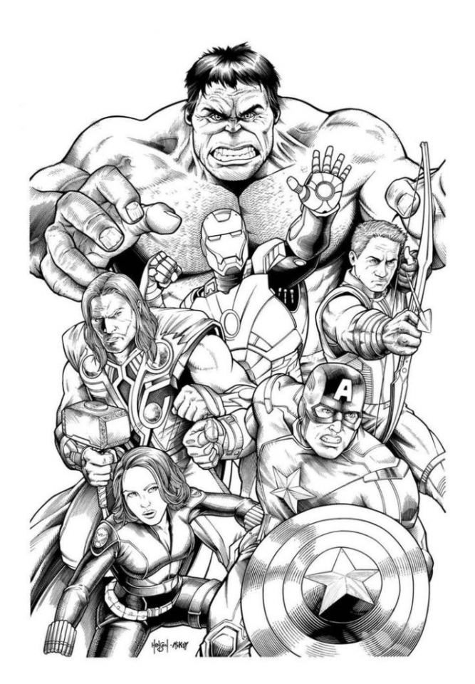 Get This Avengers Coloring Pages Marvel Superheroes Printable 56138 !