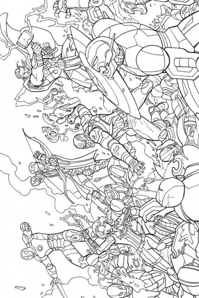 Coloring Pages Of Marvel Avengers : Avengers cartoon coloring pages printable best