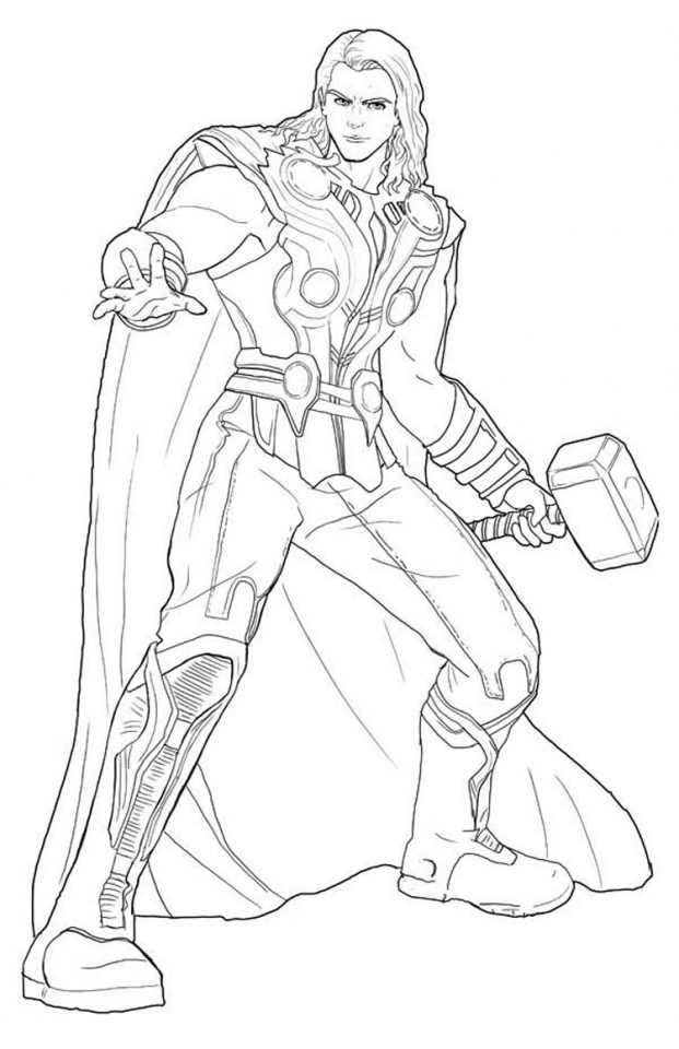 Ausmalbilder Marvel Superhelden: Get This Avengers Coloring Pages Thor Online Printable 85931