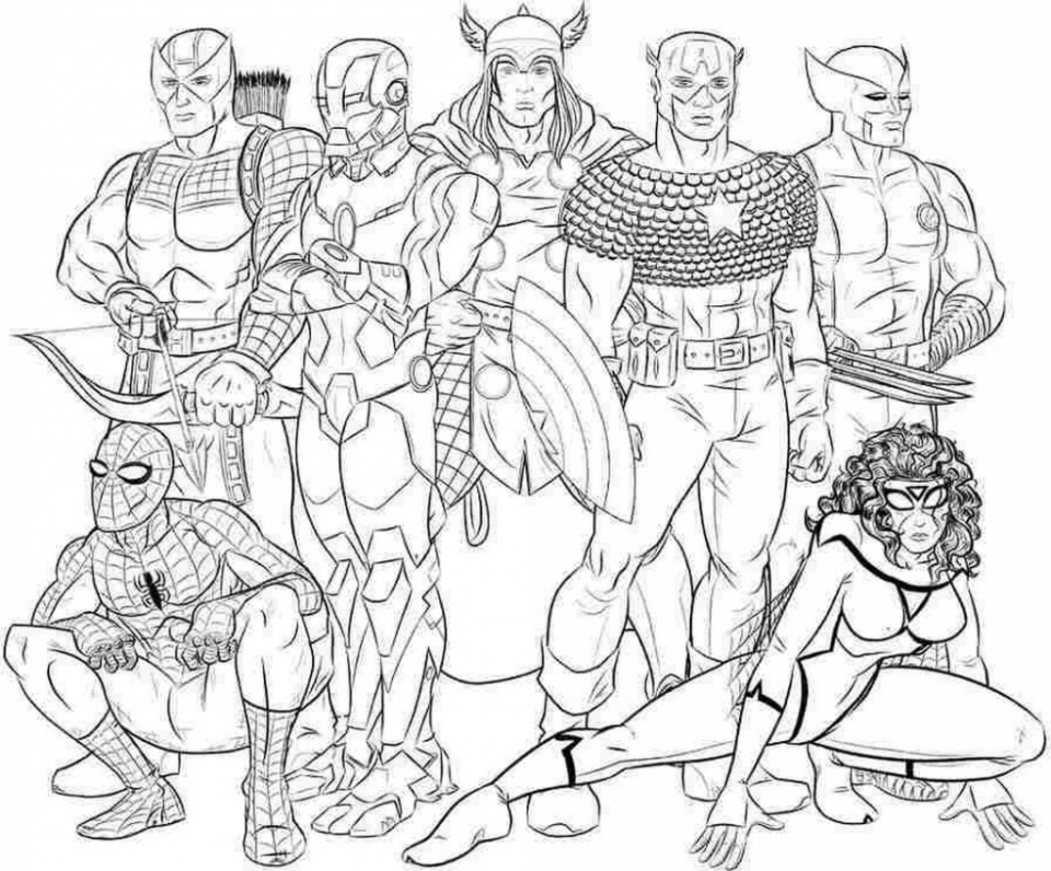 avengers coloring pages to print for free 75931 - Avengers Coloring Page