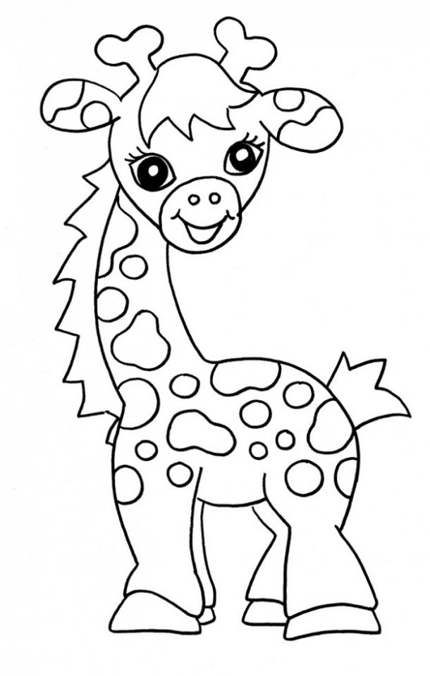 Giraffe Head Coloring Page