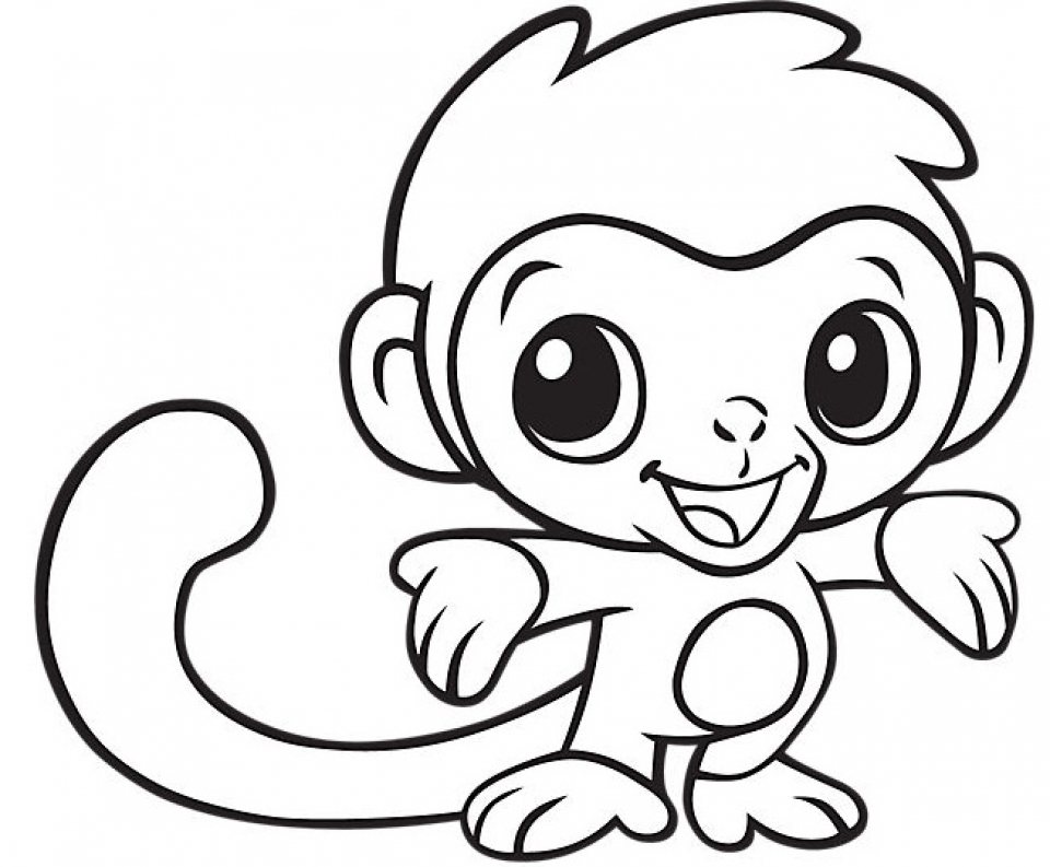 Baby Monkey Coloring Pages 31960