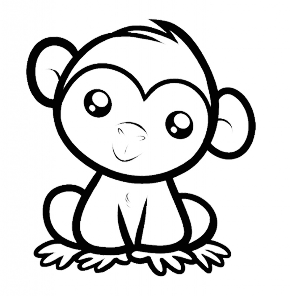 Merveilleux Baby Monkey Coloring Pages 56210