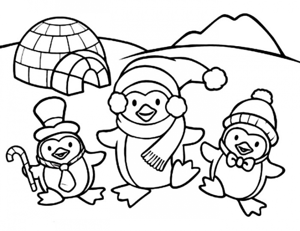 baby penguin coloring pages printable murderthestout