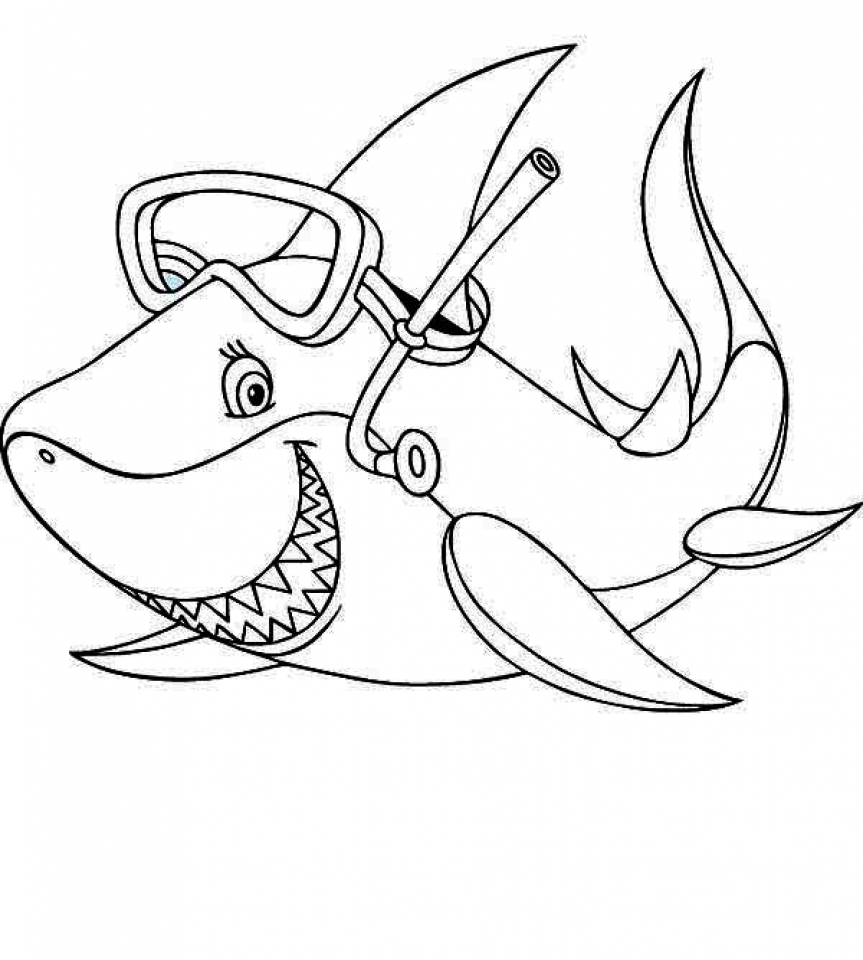 Get this baby shark coloring pages 31672 for Coloring pages shark