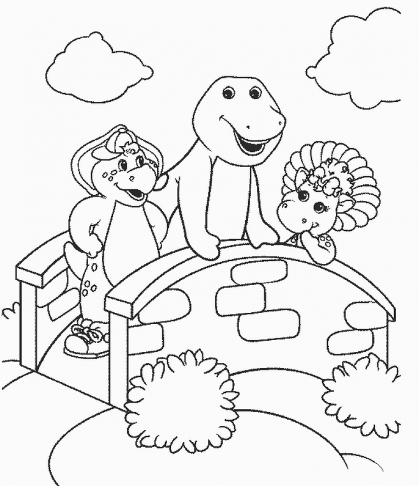 get this barney and friends coloring pages free to print 43786