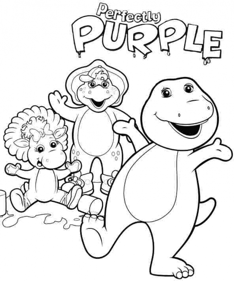 20 free printable barney and friends coloring pages everfreecoloringcom - Barney Dinosaur Coloring Pages