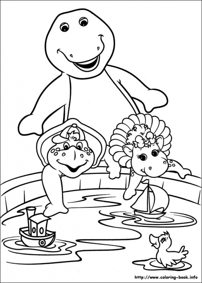 Get This Barney Coloring Pages Printable for Kids 22781 !