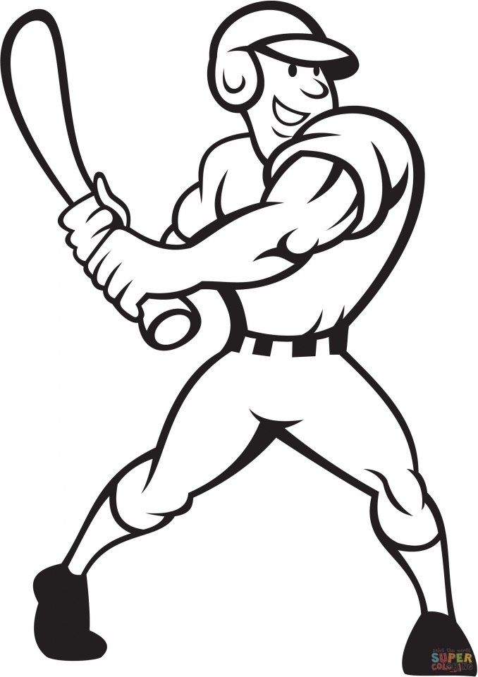 Interesting Baseball Coloring Pages For Kids With Baseball