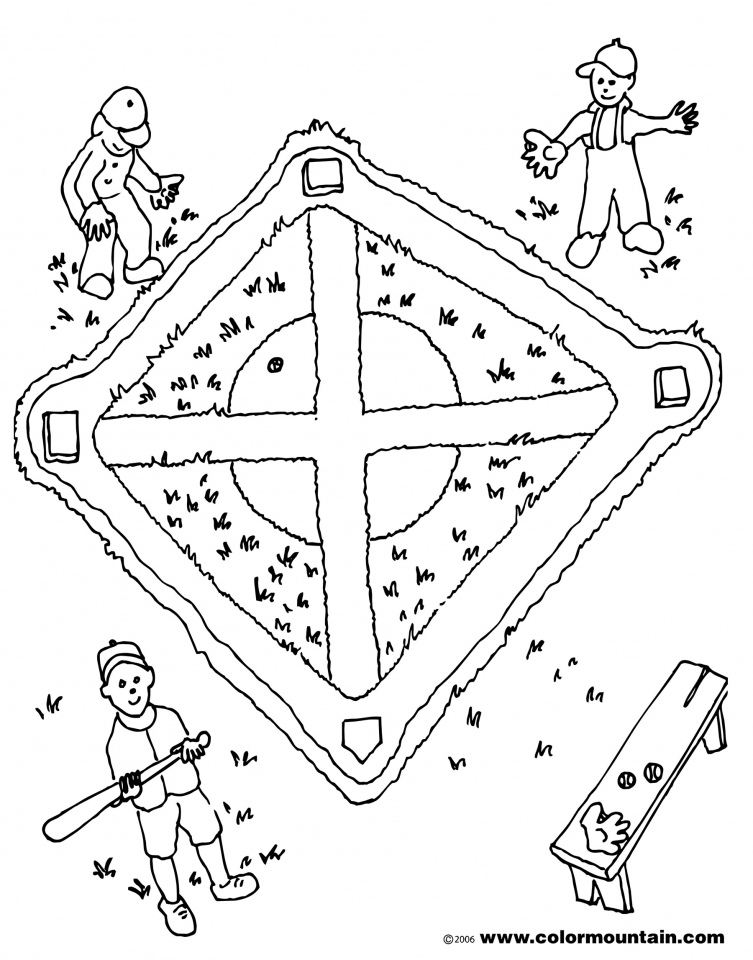 Famous Baseball Field Coloring Pages Picture Collection