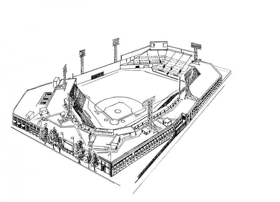 coloring book pages baseball field - photo#16