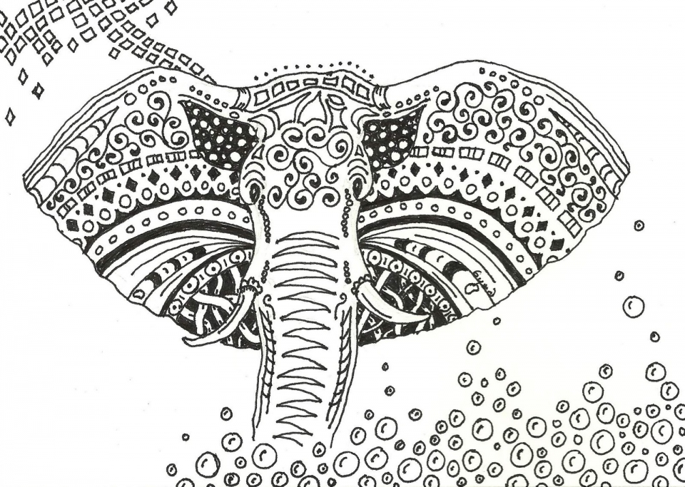 Get This Beautiful Abstract Coloring Pages Printable for Grown Ups ...