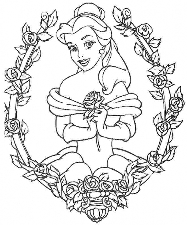 belle coloring pages disney princess for girls 56251