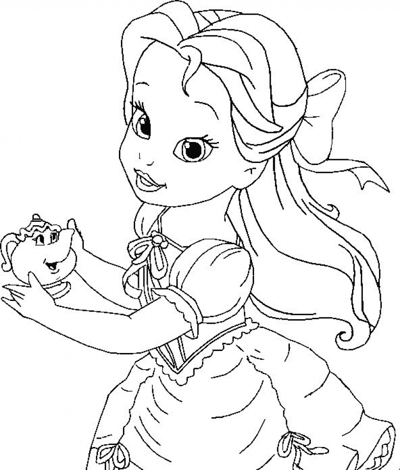 Refreshing image regarding belle printable coloring pages