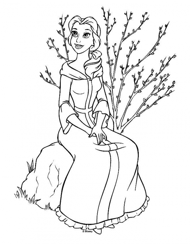 Belle Coloring Pages to Print for Girls   58301