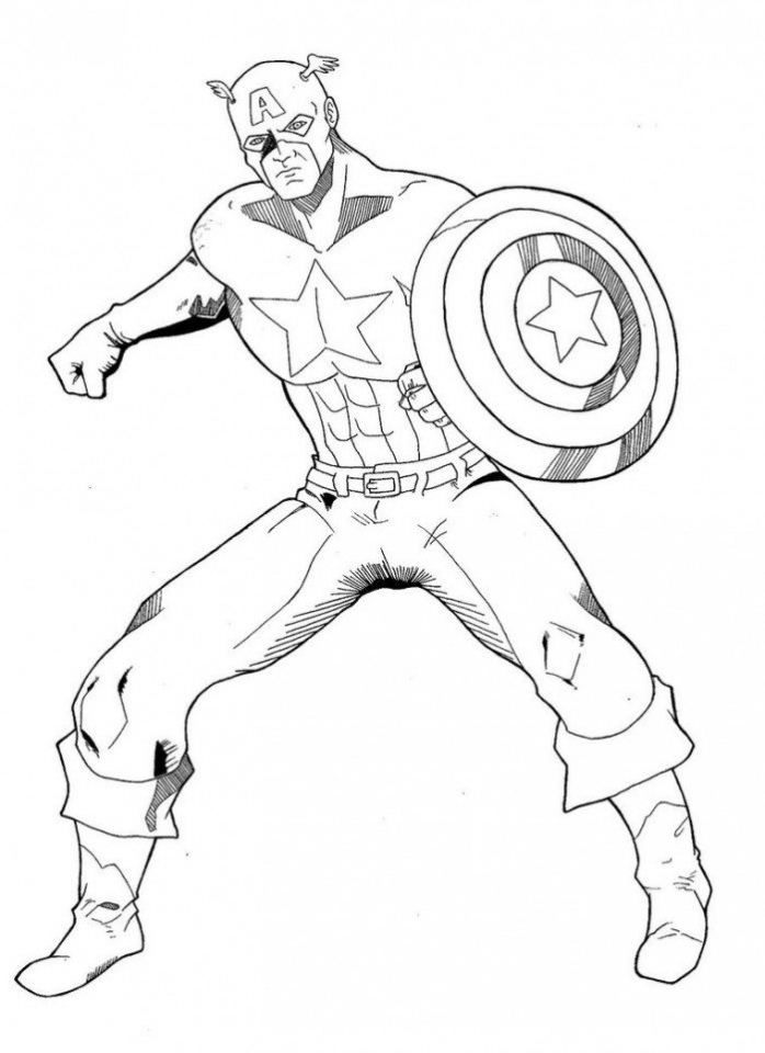 Get this captain america coloring pages avengers printable for Coloring pages captain america