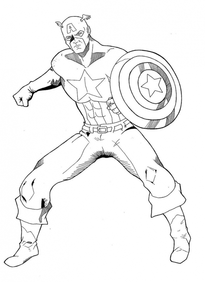 baby captain america coloring pages - photo#42