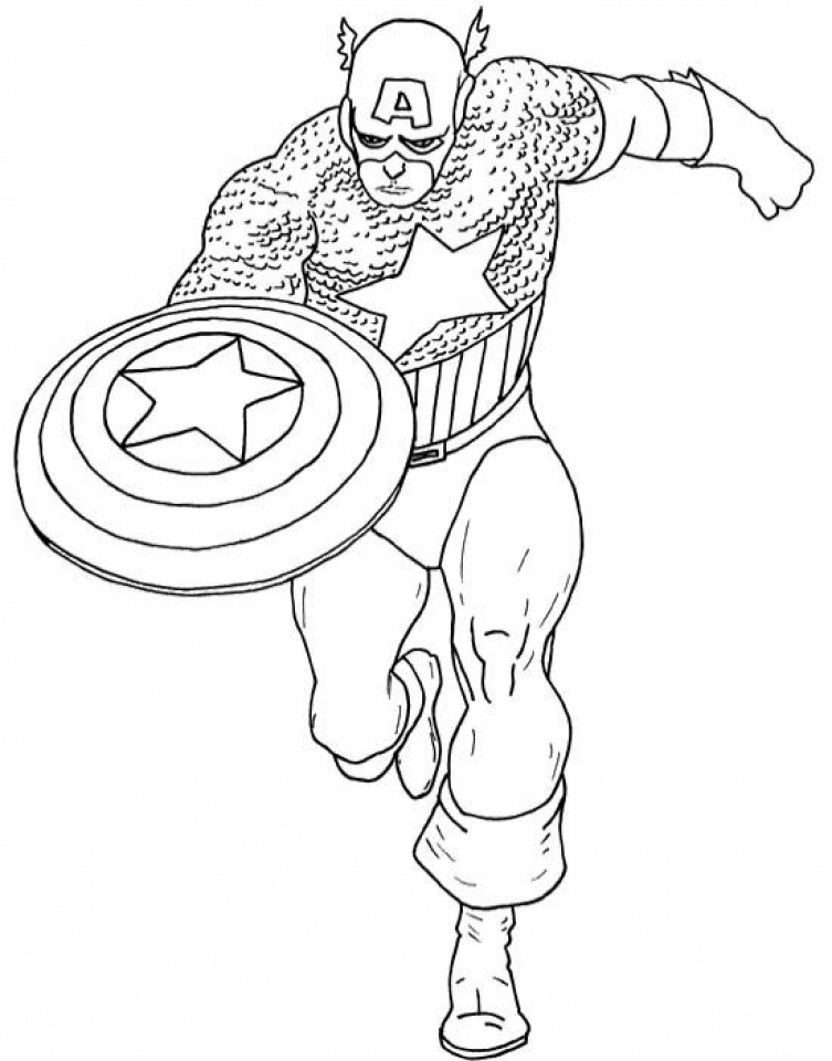 Get this captain america coloring pages marvel superhero for Coloring pages captain america