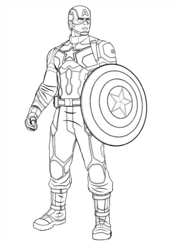 Get This Captain America Coloring Pages Printable 21749 !