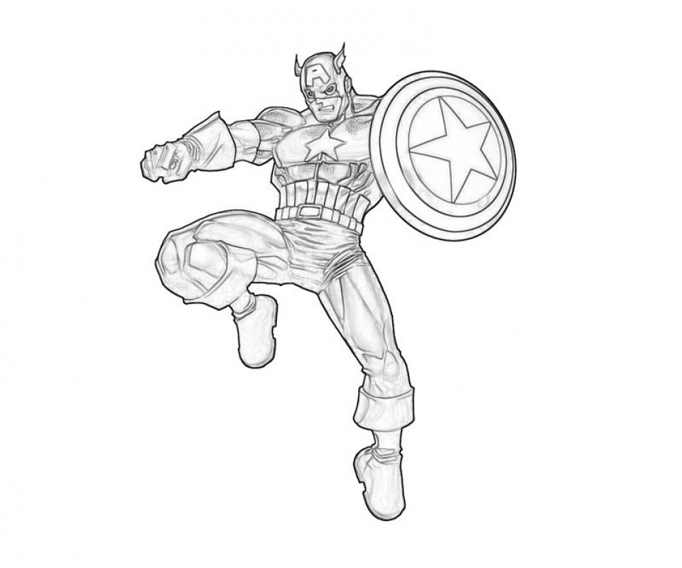 Get This Captain America Coloring Pages Printable 41203