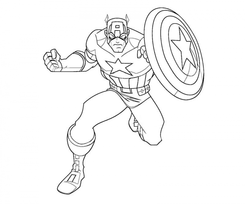 Get This Captain America Coloring Pages Printable 67218