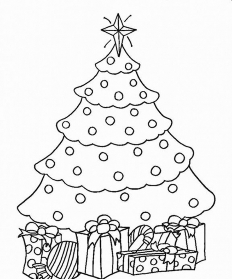 Get This Christmas Tree Coloring Pages for Kids 590187