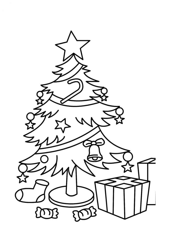 Get This Christmas Tree Coloring Pages With Gifts For Children 74761