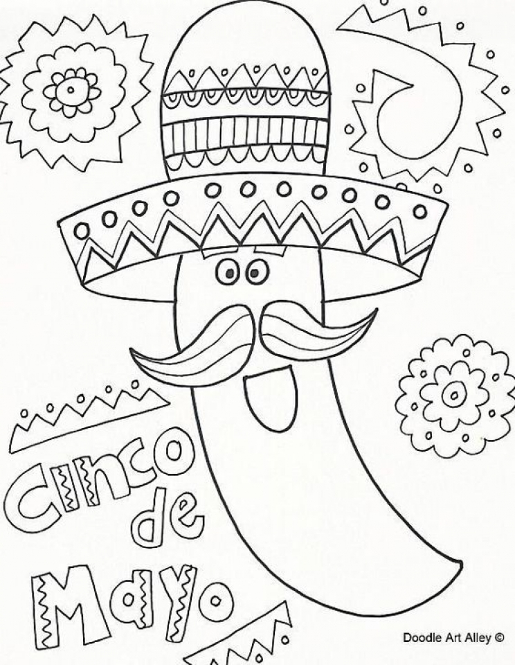 Get This Cinco de Mayo Coloring Pages Childrens Printables 82176 !