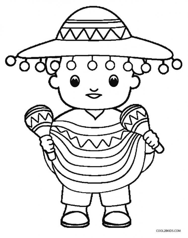 Cinco De Mayo Coloring Pages Childrens Printables 99250