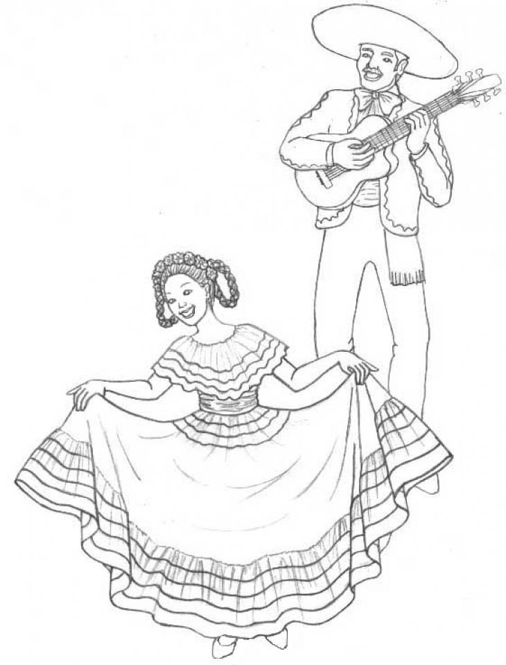 Cinco de Mayo Coloring Pages Free for Children   90421