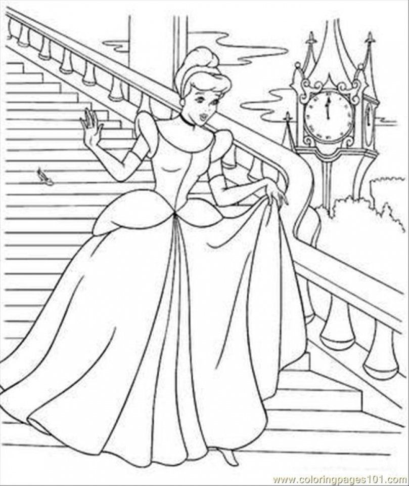 Cinderella Coloring Pages Free Printable   30789