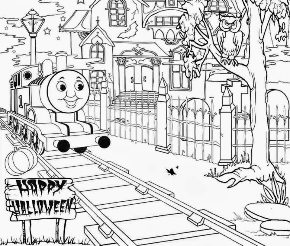Get this coloring pages of thomas the train and friends for Train coloring book pages