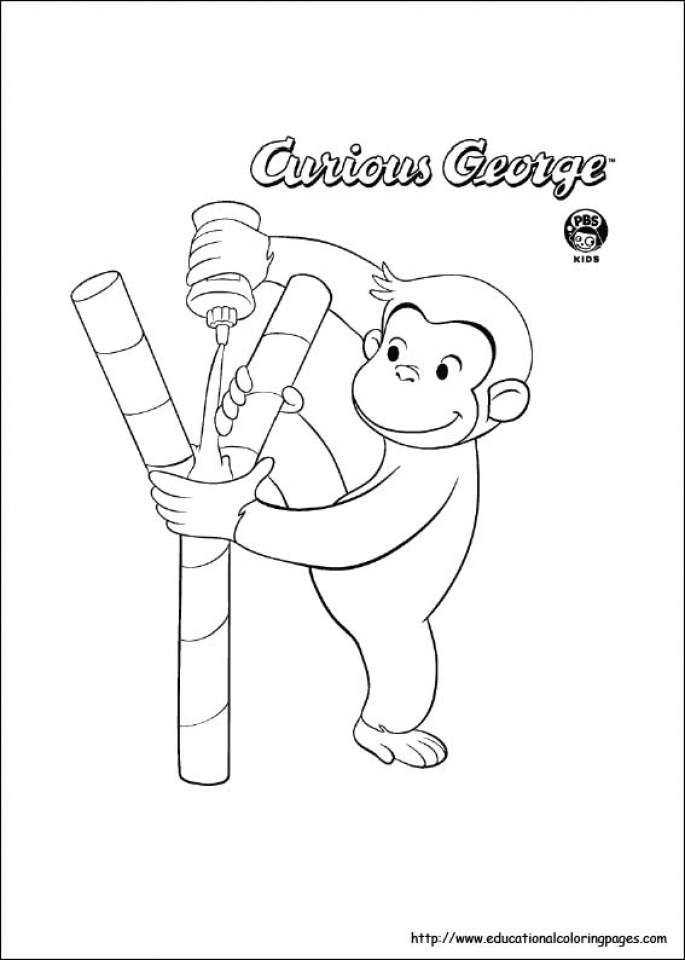 Curious George Sheet Puppy Coloring Pages