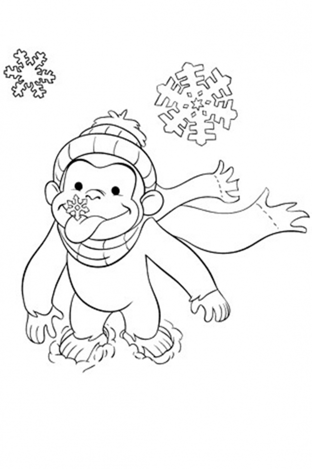 Curious George Coloring Pages Free Printable 80561