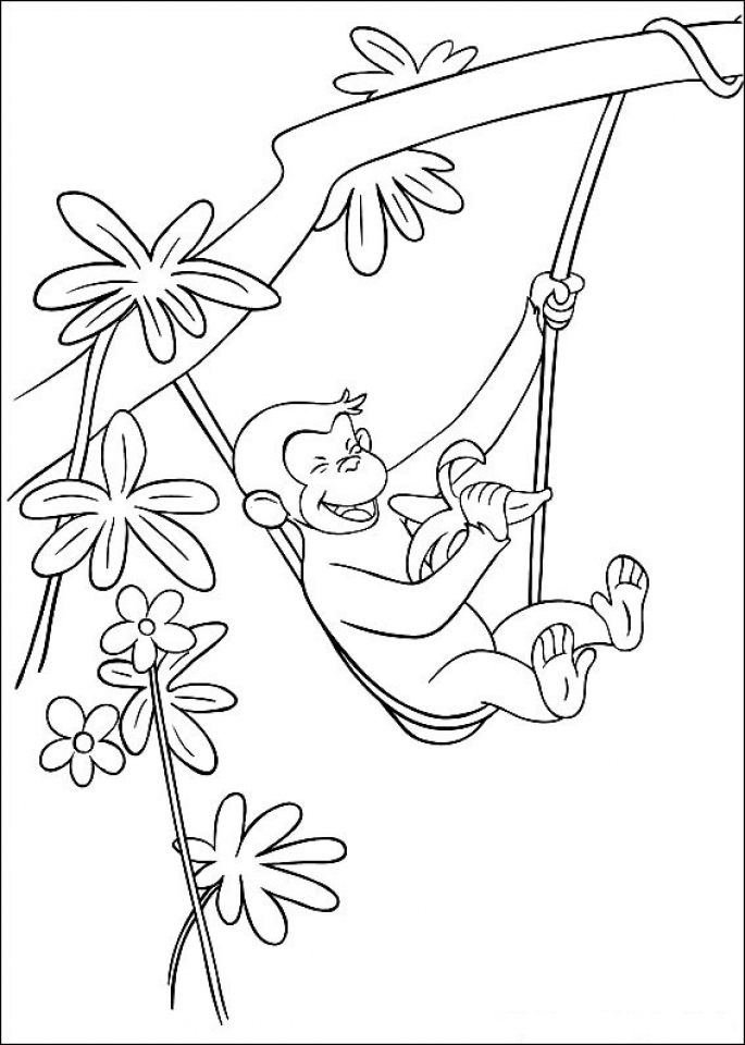 Get This Curious George Coloring Pages Online 17481