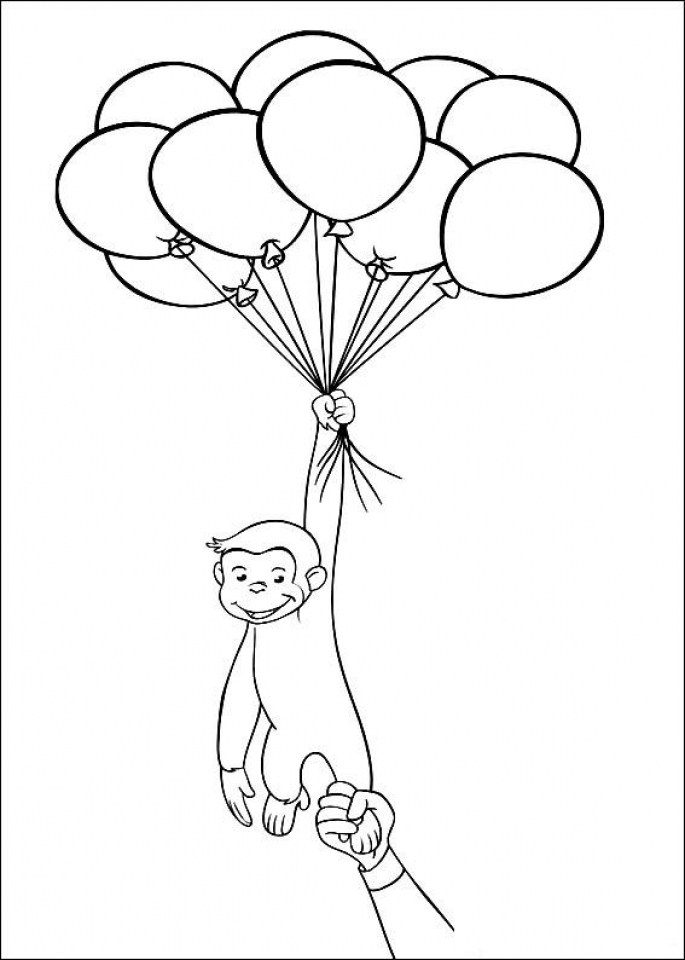 Curious George Coloring Pages Printable 08418