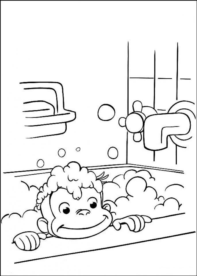 Get This Curious George Coloring Pages Printable 21759