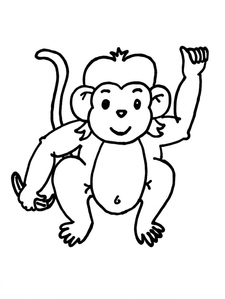 Get This Cute Baby Monkey Coloring Pages for Kids 39027