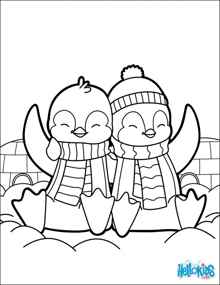 Cute Baby Penguin Coloring Pages Free Printable 89516
