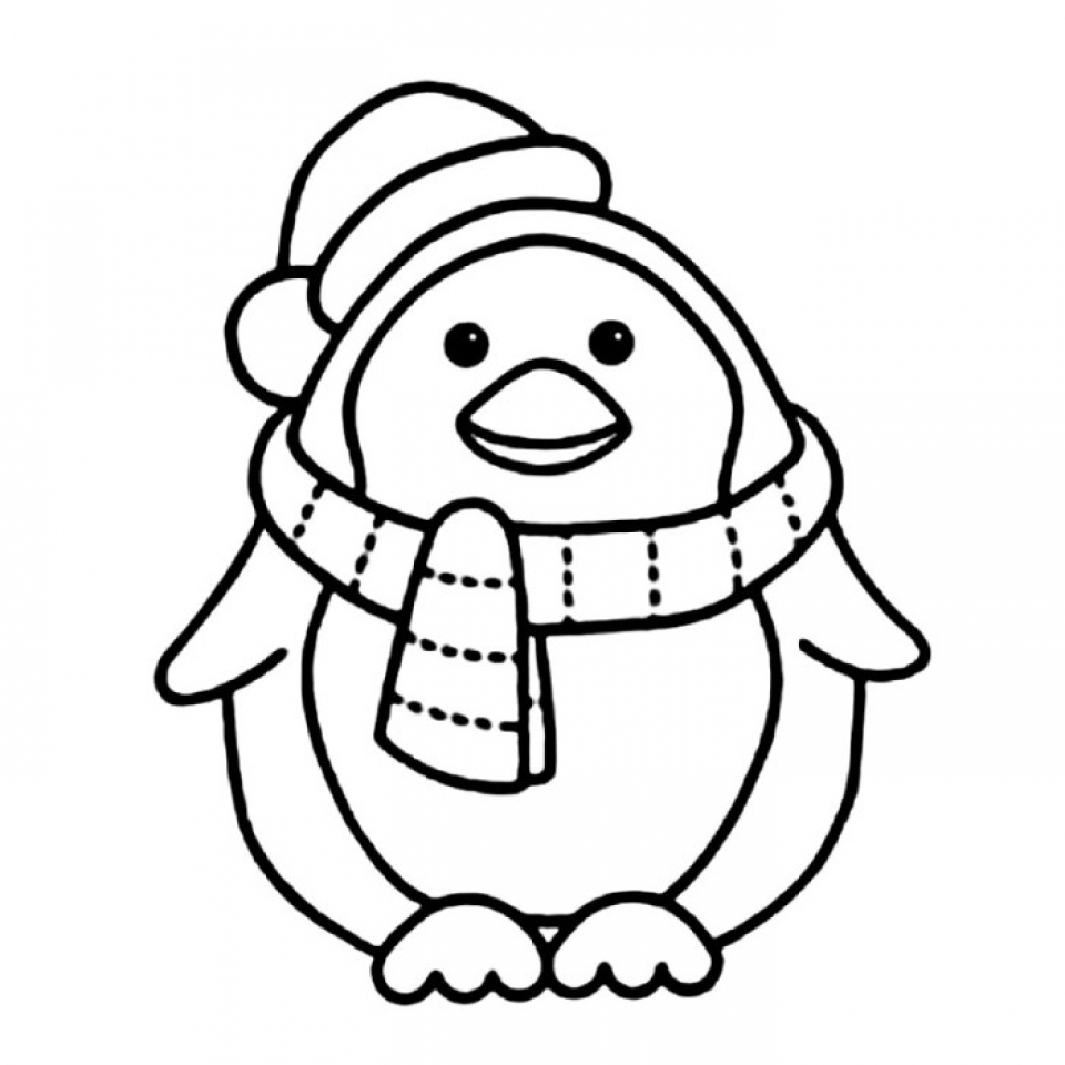 Get Cute Penguin Coloring Pages
