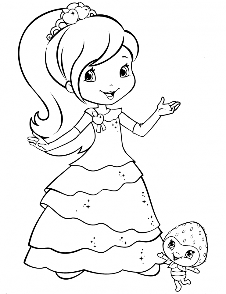 Cute Strawberry Shortcake Coloring Pages to Print   07132