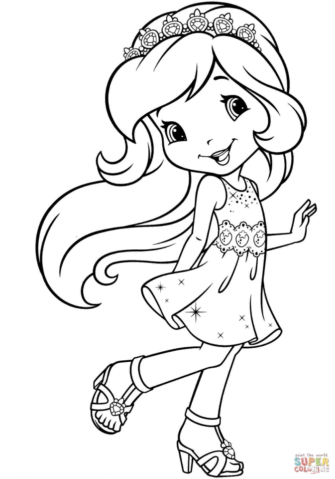 Get This Cute Strawberry Shortcake Coloring Pages To Print 15390